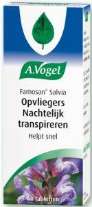 A. VOGEL FAMOSAN SALVIA OPVLIEGERS NACHTELIJK TRANSPIREREN TABLETTEN POT 60 STUKS