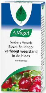 A. VOGEL CRANBERRY MONARDA BEVAT SOLIDAGO: VERHOOGT WEERSTAND IN BLAAS TABLETTEN POT 30 STUKS