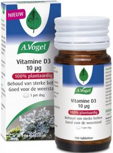 A. VOGEL VITAMINE D3 10 UG TABLETTEN POT 100 STUKS