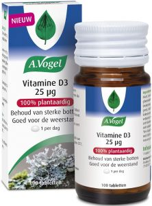A. VOGEL VITAMINE D3 25 UG TABLETTEN POT 100 STUKS