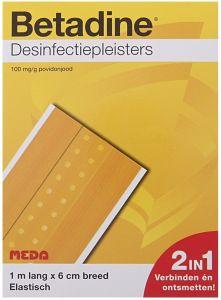 BETADINE DESINFECTIEPLEISTERS 1 METER X 6 CM ELASTISCH PAKJE 1 STUK