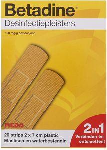 BETADINE DESINFECTIEPLEISTERS 2 X 7 CM PLASTIC PAKJE 20 STUKS