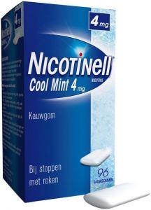 NICOTINELL KAUWGOM COOL MINT 4 MG DOOSJE 96 STUKS