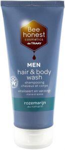 DE TRAAY MEN BEE HONEST ROZEMARIJN HAIR & BODY WASH DOUCHEGEL TUBE 200 ML