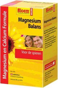 BLOEM MAGNESIUM BALANS MAGNESIUM EN CALCIUM FORMULE TABLETTEN DOOSJE 60 STUKS