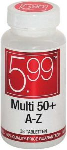 5.99 MULTI 50+ A-Z TABLETTEN POT 38 STUKS