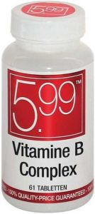 5.99 VITAMINE B COMPLEX TABLETTEN POT 61 STUKS