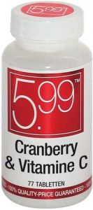 5.99 CRANBERRY & VITAMINE C TABLETTEN POT 77 STUKS