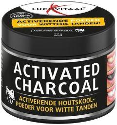 LUCOVITAAL ACTIVATED CHARCOAL VOOR WITTE TANDEN POT 50 GRAM