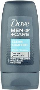 DOVE MEN+CARE CLEAN COMFORT BODY WASH DOUCHEGEL FLACON 55 ML