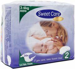SWEET CARE ULTRA DUN 2 3-6 KG MINI LUIERS PAK 36 STUKS