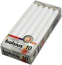 BOLSIUS DINERKAARSEN 230 X 20 MM (WIT) PAK 10 STUKS