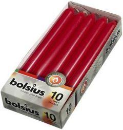 BOLSIUS DINERKAARSEN 230 X 20 MM (WIJNROOD) PAK 10 STUKS