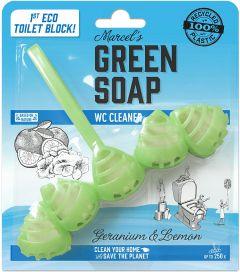 MARCEL'S GREEN SOAP GERANIUM & LEMON TOILETBLOK PAK 1 STUK