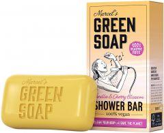 MARCEL'S GREEN SOAP VANILLA & CHERRY BLOSSOM SHOWER BAR DOOSJE 150 GRAM