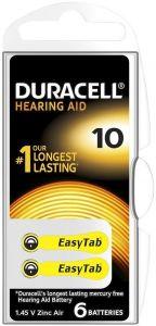 DURACELL EASYTAB HEARING AID 10 GEHOORBATTERIJ PAK 6 STUKS