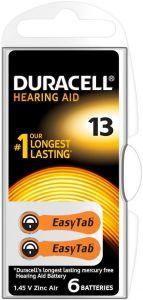 DURACELL EASYTAB HEARING AID 13 GEHOORBATTERIJ PAK 6 STUKS