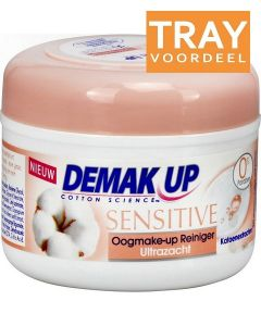 DEMAK UP SENSITIVE OOGMAKE-UP REINIGER ULTRAZACHT WATTENSCHIJFJES TRAY 12 X 30 STUKS