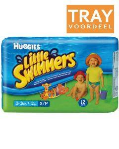 HUGGIES LITTLE SWIMMERS 7-12 KG ZWEMLUIERS TRAY 3 X 12 STUKS