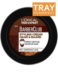 L'OREAL MEN EXPERT BARBERCLUB STYLING CREAM HAAR & BAARD TRAY 6 X 75 ML