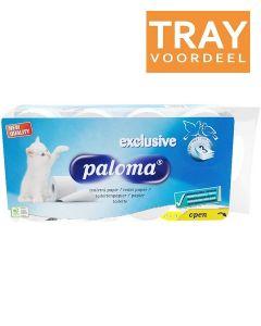 PALOMA TOILETPAPIER 3 LAAGS TRAY 6 X 8 ROLLEN