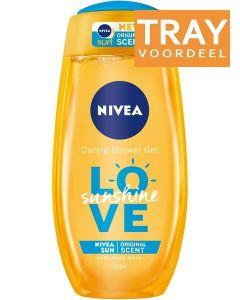 NIVEA LOVE SUNSHINE SHOWER GEL DOUCHEGEL DOOS 24 X 250 ML