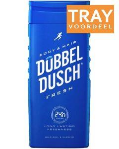 DOPPELDOUCHE BODY & HAIR FRESH DOUCHEGEL TRAY 6 X 250 ML