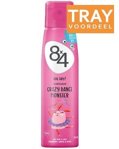 8X4 CRAZY DANCE MONSTER DEO SPRAY DOOS 30 X 150 ML