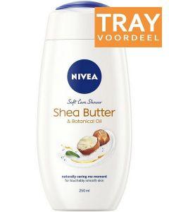 NIVEA SHEA BUTTER & BOTANICAL OIL DOUCHEGEL TRAY 24 X 250 ML