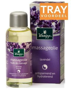 KNEIPP MASSAGEOLIE LAVENDEL ONTSPANNEND & HYDRATEREND TRAY 6 X 100 ML