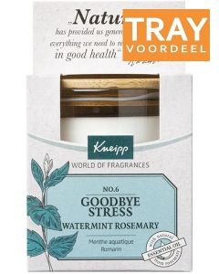 KNEIPP GOODBYE STRESS WATERMINT ROSEMARY GEURKAARS TRAY 6 X 145 GRAM