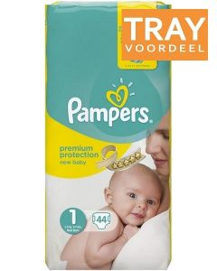 PAMPERS NEW BABY 1 2-5 KG NEW BORN LUIERS TRAY 2 X 44 STUKS