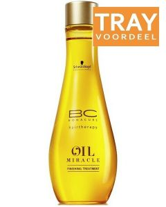 SCHWARZKOPF PROFESSIONAL BC BONACURE HAIRTHERAPY OIL MIRACLE FINISHING TREATMENT TRAY 12 X 100 ML