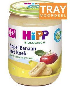 HIPP APPEL BANAAN MET KOEK 4+ MAANDEN TRAY 6 X 190 GRAM