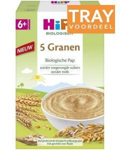 HIPP 5 GRANEN BIOLOGISCHE PAP 6+ MAANDEN TRAY 6 X 200 GRAM