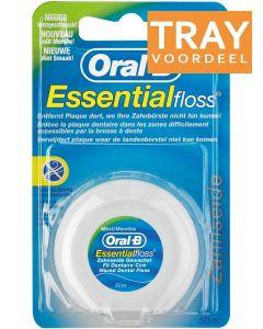 ORAL-B ESSENTIAL FLOSS MINT FLOSDRAAD 50 METER DOOS 144 X 1 STUK