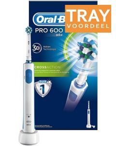 ORAL-B PRO 600 CROSS ACTION ELECTRISCHE TANDENBORSTEL TRAY 6 X 1 STUK