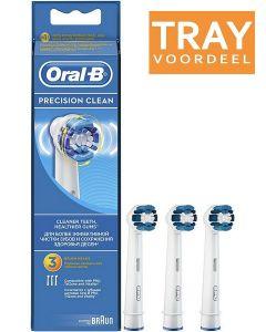 ORAL-B PRECISION CLEAN OPZETBORSTELS TRAY 6 X 3 STUKS