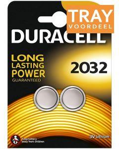 DURACELL 2032 3V LITHIUM KNOOPCELBATTERIJ TRAY 10 X 2 STUKS