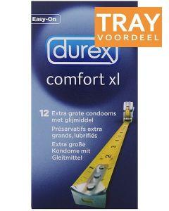 DUREX COMFORT XL EXTRA GROTE CONDOOMS TRAY 12 X 12 STUKS