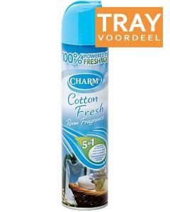 CHARM COTTON FRESH LUCHTVERFRISSER TRAY 12 X 240 ML