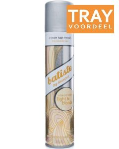 BATISTE DRY SHAMPOO LIGHT & BLONDE DROOGSHAMPOO SPRAY TRAY 6 X 200 ML