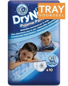 HUGGIES DRY NITES PYJAMA PANTS 4-7 JAAR (JONGENS) TRAY 3 X 10 STUKS