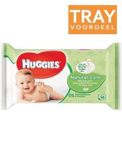 HUGGIES NATURAL CARE BABYDOEKJES TRAY 10 X 56 STUKS