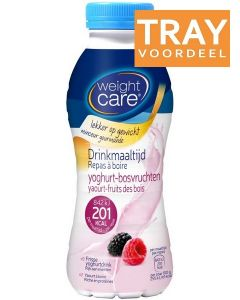 WEIGHT CARE DRINKMAALTIJD YOGHURT-BOSVRUCHTEN TRAY 6 X 330 ML