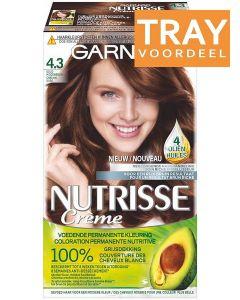 GARNIER NUTRISSE CRÈME 4.3 GOUD MIDDENBRUIN HAARVERF TRAY 6 X 1 STUK