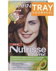 GARNIER NUTRISSE CRÈME 5.3 LICHT GOUDBRUIN HAARVERF TRAY 6 X 1 STUK