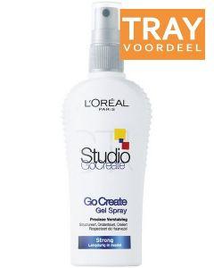 L'OREAL STUDIO LINE GO CREATE GEL SPRAY STRONG SPRAY TRAY 6 X 150 ML