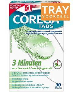 COREGA TABS 3 MINUTEN REINIGINGSTABLETTEN DOOS 72 X 30 STUKS