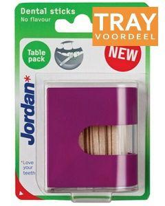JORDAN TABLE PACK DENTAL STICKS NO FLAVOUR TANDENSTOKERS TRAY 12 X 125 STUKS